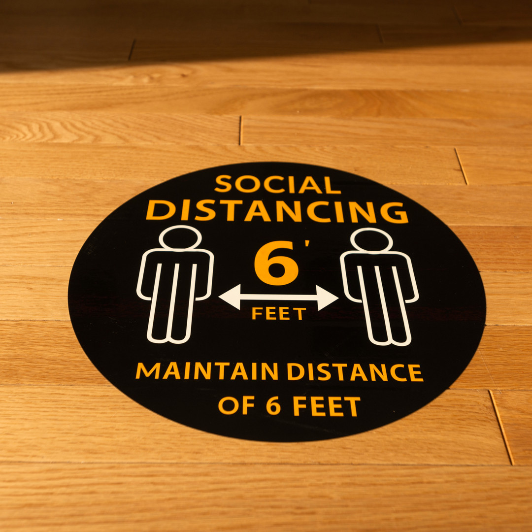 Rae Studios Social Distancing Floor Markings