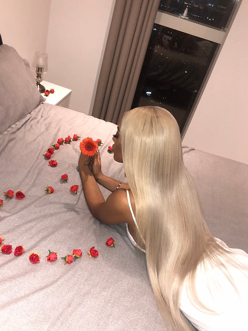 613 Blonde Individual Straight Hair (Brazilian, Malaysian,Peruvian Hair)