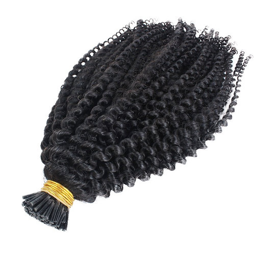 Kinky Curly I tip Micro Ring Hair Extensions