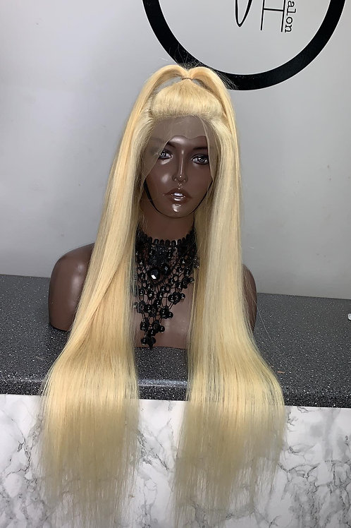 613 Blonde Straight Lace Front Custom Wigs