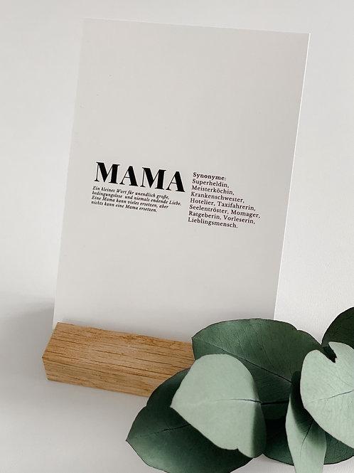 Mini Poster   A6 - Mama