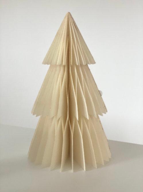 Tannenbaum aus Papier | Beige-Gold | 31 cm