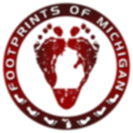 FOOTPRINTS OF MICHIGAN COLOR LOGO NO BAC