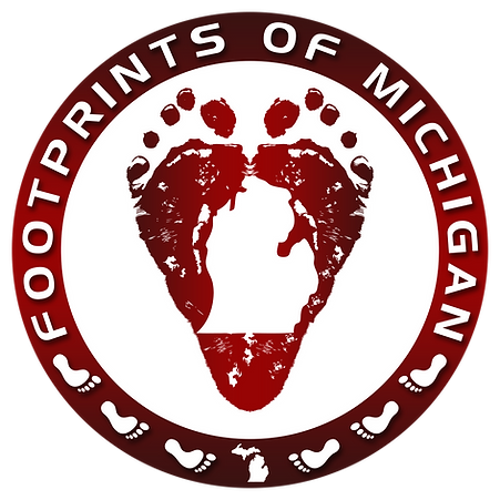 FOOTPRINTS OF MICHIGAN COLOR LOGO NO BAC