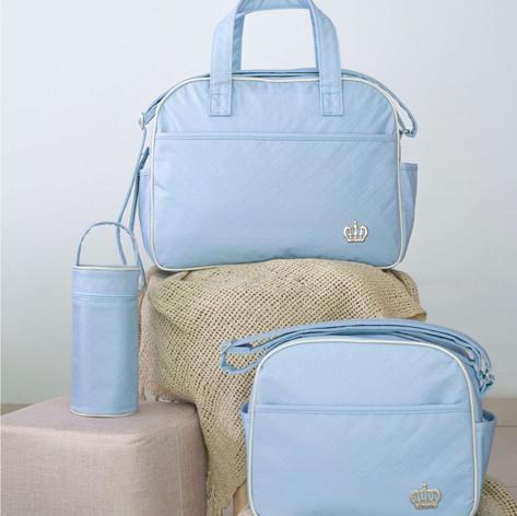 Kit Maternidade com 3 peças Matelassê   1405K3 Azul
