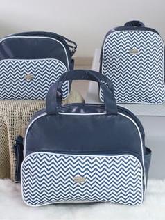Conjunto de Bolsas maternidade com mochila   1028C Marinho