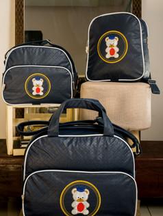 Conjunto de Bolsas maternidade com mochila Sapequinha   1026C Marinho