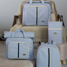 Kit Maternidade Xadrez com 5 peças | 102K5 Azul