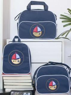 Conjunto de bolsas maternidade com mochila Sapequinha bagum   1027C Marinho