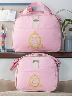 Conjunto de bolsas maternidade Soninho Bagum   1023C Rosa