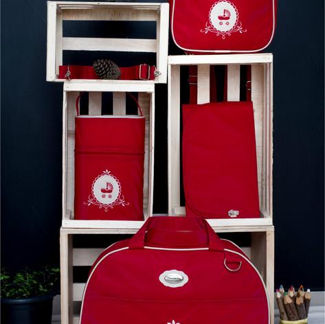Kit Maternidade com 4 peças Charminho   200K4 Vermelho