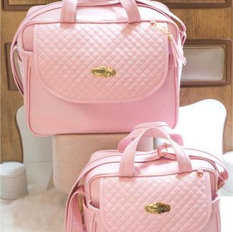 Conjunto de Bolsas Maternidade Madrid   4940C Rosa