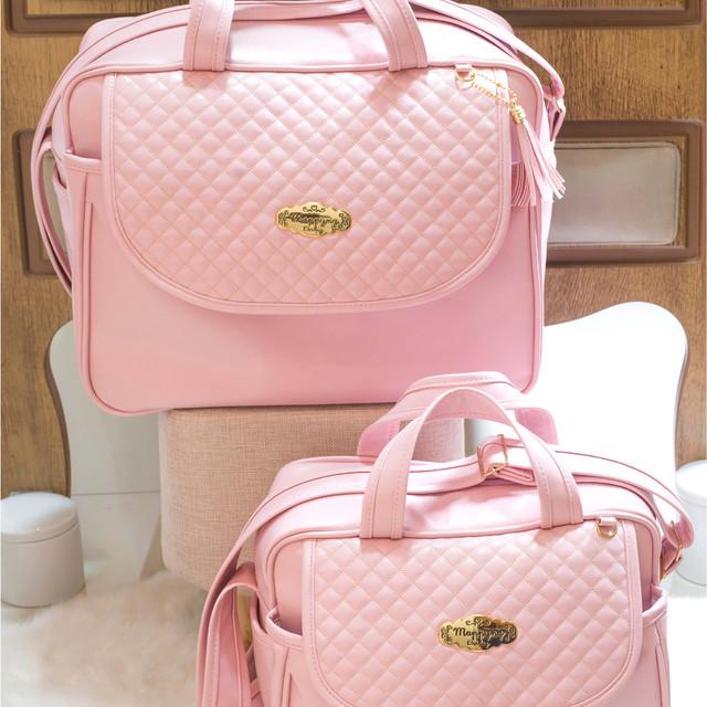Conjunto de Bolsas Maternidade Madrid | 4940C Rosa