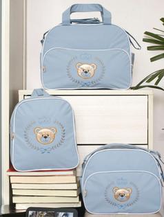 Conjunto de bolsas maternidade com mochila Sapequinha bagum   1027C Azul