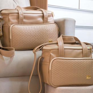 Conjunto de bolsas maternidade Marselha   4980C Bege