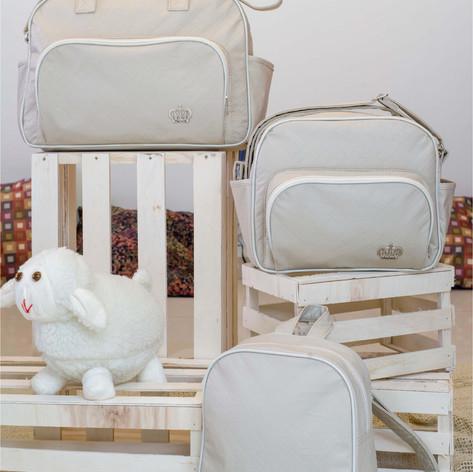 Kit Maternidade com 3 peças Realeza   1410K3 Bege