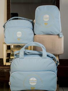 Conjunto de Bolsas maternidade com mochila Sapequinha   1026C Azul