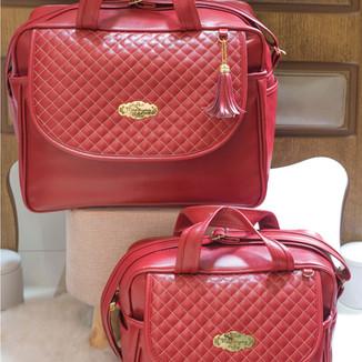 Conjunto de Bolsas Maternidade Madrid   4940C Vermelho