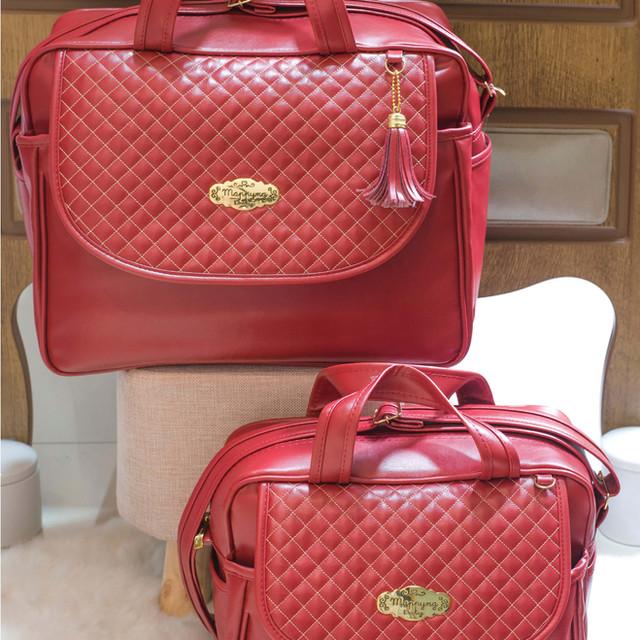 Conjunto de Bolsas Maternidade Madrid | 4940C Vermelho
