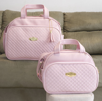 Conjunto de Bolsas Maternidade Lisboa   4925C Rosa