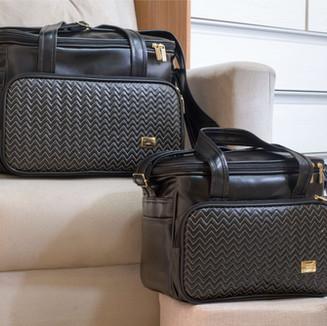 Conjunto de bolsas maternidade Marselha   4980C Preto