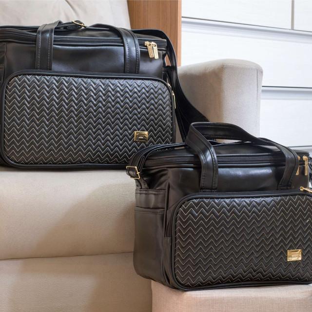 Conjunto de bolsas maternidade Marselha | 4980C Preto
