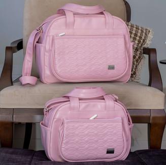 Conjunto de Bolsas Maternidade Natalie   4550C Rosa