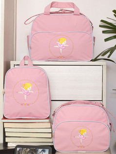 Conjunto de bolsas maternidade com mochila Sapequinha bagum   1027C Rosa