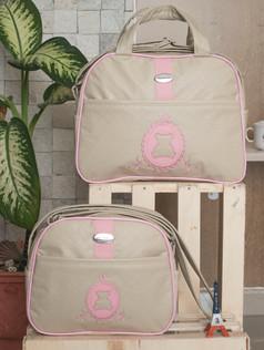 Conjunto de Bolsas maternidade Adoleta   1020C Rosa