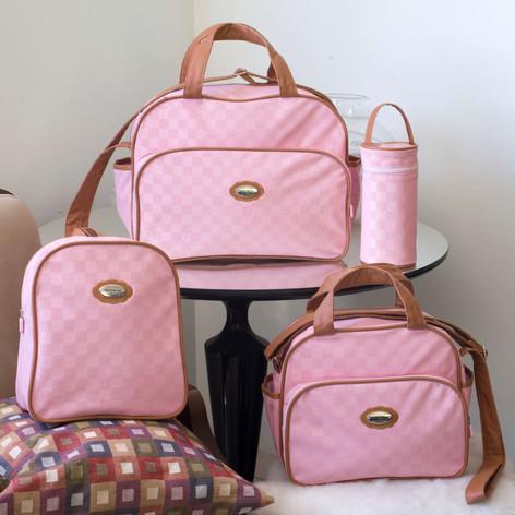 Kit Maternidade com 4 peças Aquarela   1520K4 Rosa