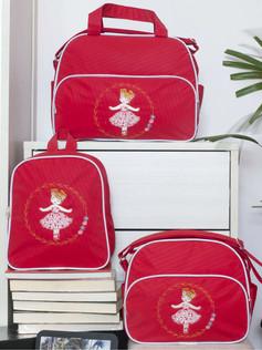 Conjunto de bolsas maternidade com mochila Sapequinha bagum   1027C Vermelho
