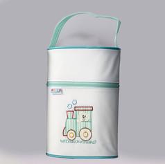 Porta mamadeira duplo Baby Soft | 0002 Verde