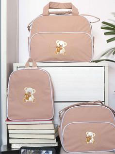 Conjunto de bolsas maternidade com mochila Sapequinha bagum   1027C Bege