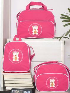 Conjunto de bolsas maternidade com mochila Sapequinha bagum   1027C Pink