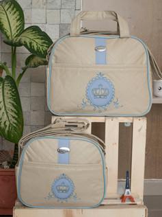 Conjunto de Bolsas maternidade Adoleta   1020C Azul