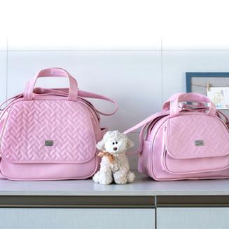 Conjunto de Bolsas Maternidade Juliette   4520C Rosa
