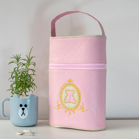 Porta mamadeira duplo Soninho | 0022 Rosa