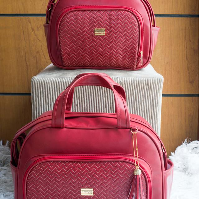 Conjunto de Bolsas Maternidade Napoli | 4905C Vermelho