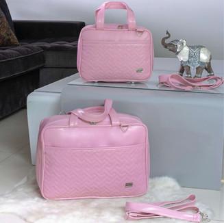 Conjunto de Bolsas Maternidade Annabelle Florence   4510C Rosa