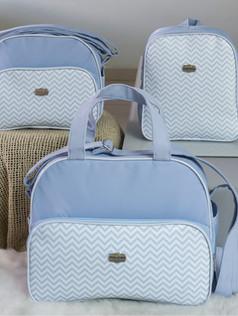 Conjunto de Bolsas maternidade com mochila   1028C Azul