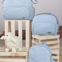 Kit Maternidade com 3 peças Realeza | 1410K3 Azul