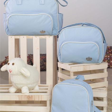 Kit Maternidade com 3 peças Realeza   1410K3 Azul