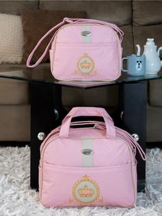 Conjunto de Bolsas maternidade Soninho   1022C Rosa