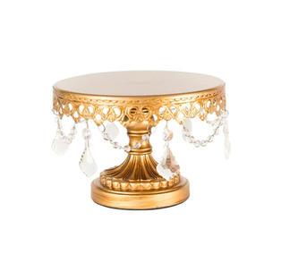 Round Gold Dessert Stands