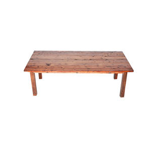 4' x 8' Mahogany Farm Table