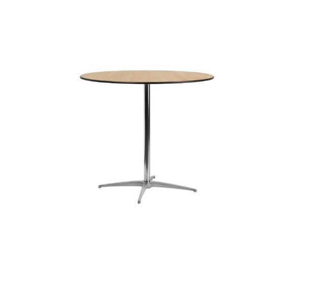 """36"""" Round Wooden Low Top Table"""