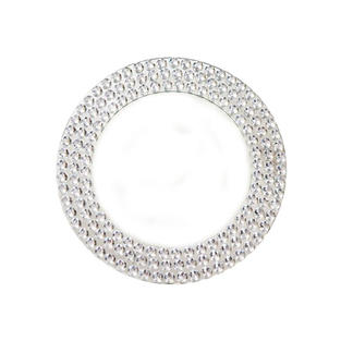 Bling Mirror Glass Charger