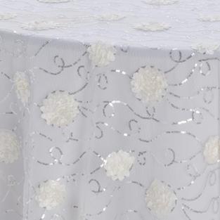 Ivory Gardenia Textured Sheer Overlay