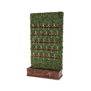 Champagne Hedge Wall – Mahogany Stain Base