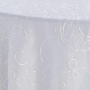 Diamond White Ribbon Scroll Overlay